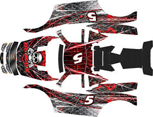 Details about LOSI 5T MTXL BLACK WIDOW body wrap decals stickers
