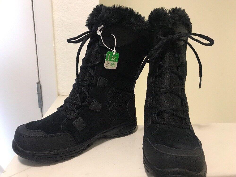 Columbia Invierno botas De Nieve Mujer Impermeable Negro