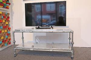 Sideboard-Industriedesign-Fernsehtisch-Regal-Stahl-Aluminium