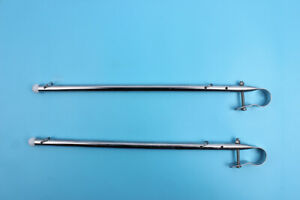 """2x Marine Stainless Steel Rail Mount Flag Pole for Boat Yacht 7//8/"""" Rails"""