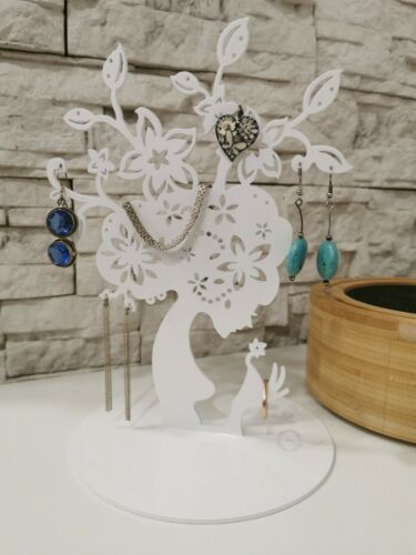 Details about  /1PCS Women Metal Laser Cut Jewelry Display Stand Holder Earring Necklace
