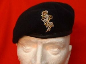 ca39cf0b8e4 Image is loading REME-Beret-REME-Officer-Hand-Embroidered-Beret-Badge-