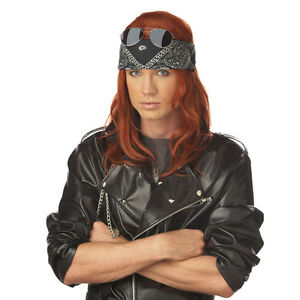 Details about Hollywood Rocker Wig Axl Rose Costume Guns 'n Roses 90's 80's  Axel Auburn New
