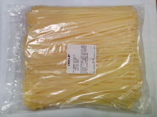 """Cable Ties 500 MADE IN USA. 15-1//4/"""" DEKTIES Dek # 010-120R NEW"""