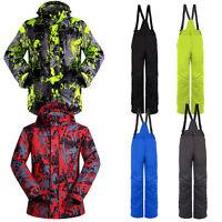Men's Waterproof Windproof Padded Coat Jacket Pants Ski Suit Snowboard Snowsuit