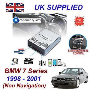 para-BMW-7-MP3-SD-USB-CD-AUX-adaptador-de-entrada-Audio-Digital-Cargador-Modulo
