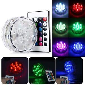 10-LED-Waterproof-RGB-Colorful-Wedding-Party-Vase-Base-Light-Submersible-Remote