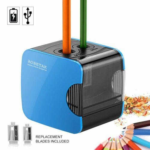 Aobetak Elektrischer Anspitzer Mit Behälter,Usb Und Batterie Betrieben Bleistif