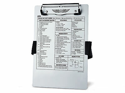 REDESIGNED IFR PILOT KNEEBOARD from ASA p//n ASA-KB-2A
