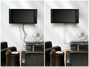 new white cable management covers cord wires hide wall mounted tv flat screen ebay. Black Bedroom Furniture Sets. Home Design Ideas