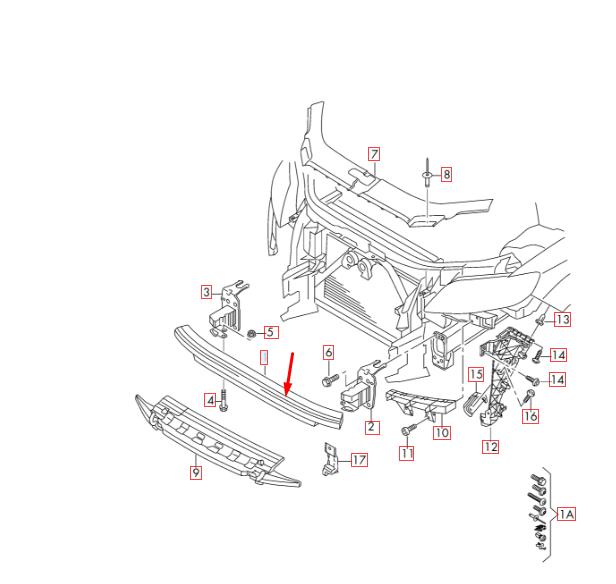 Audi Q7 4L Parachoques Delantero Refuerzo Barra 4l0807113a Original 2015
