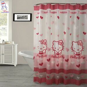 """Brand New with Tags Hello Kitty Shower Curtain 72/"""" x 72/"""" Ships FREE"""