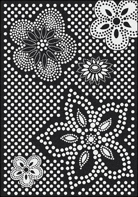 5x8 Milliken Eyelet Black Modern Flowers Polka Dots Area