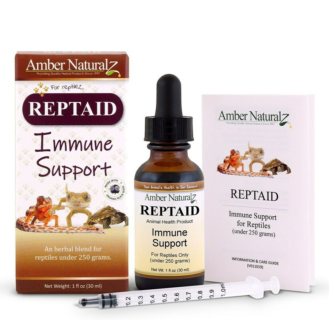 Amber Naturalz Organic Reptaid Reptile Immune System Health Support FREE 2 Day