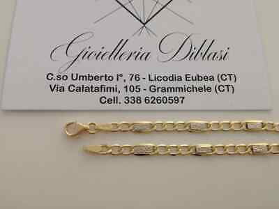 BRACCIALE In ORO GIALLO Unisex Oro 18 KT 750/% Made In Italy