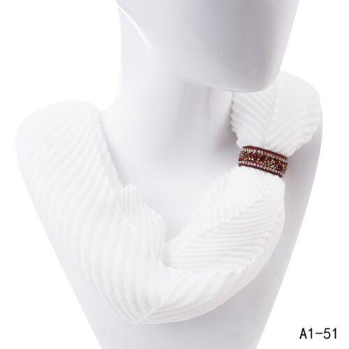 2er Set Schalhalter Tuchhalter Schmuckband Tuch-Ring Strass