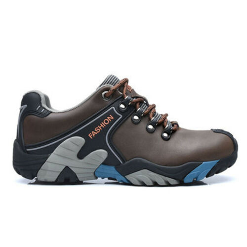 Mens Hiking leather boots Shoes Athletic Trekking Trail Outdoor Non Slip Shoes