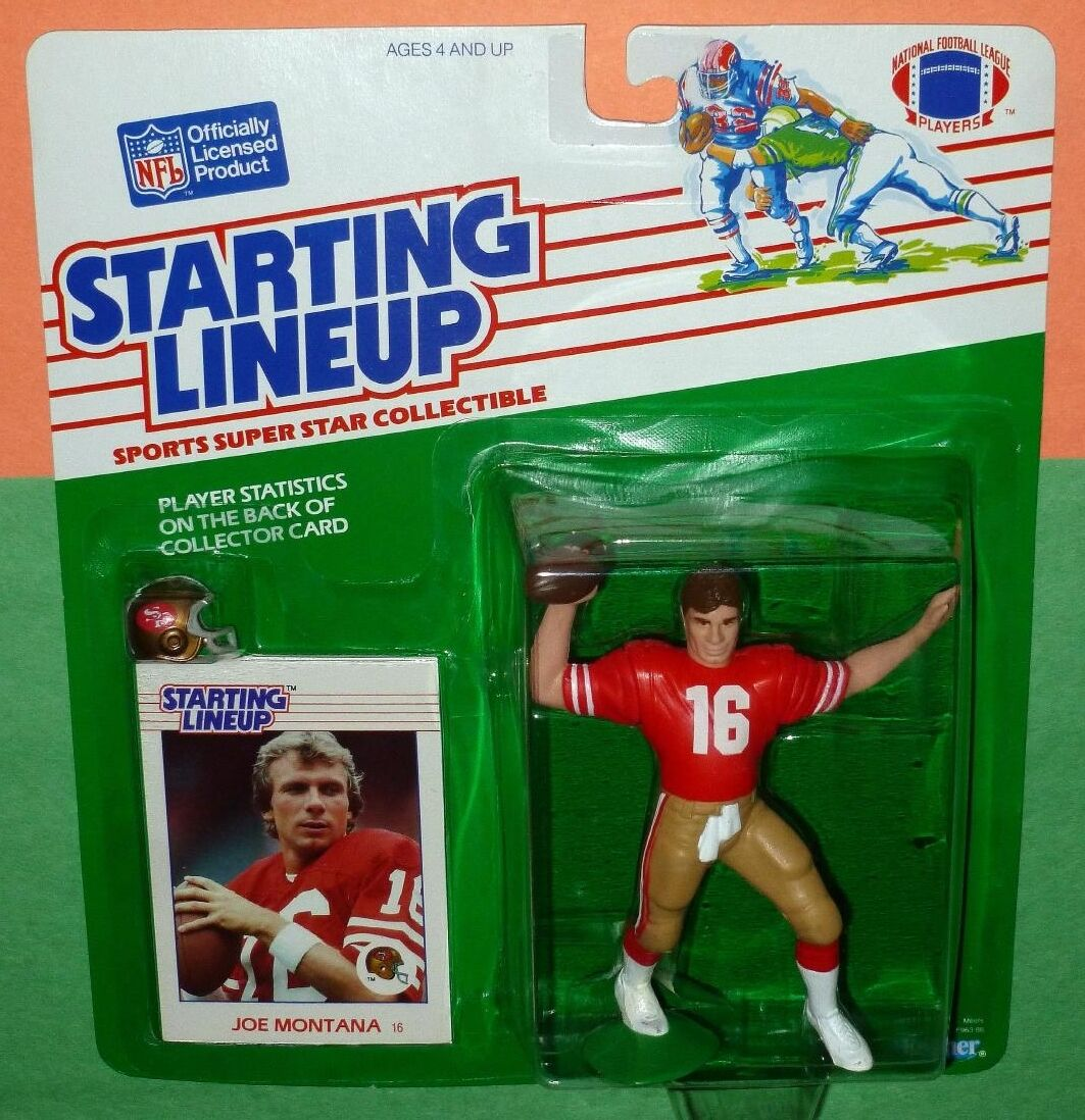 1988 JOE MONTANA San Francisco 49ers NM Rookie  00 s h  Starting Lineup + dome