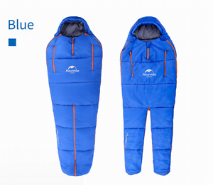 Shiny nylon mummy sleeping  bag wet-look 3 season camping sleeping bags suit bag  100% fit guarantee