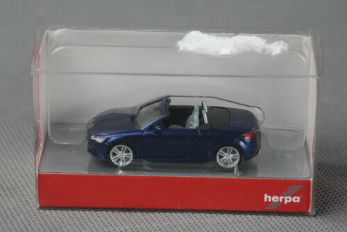 scubablau-metallic VIELE FOTOS NEUWARE! HERPA 038409 H0 1:87 Audi TT Roadster