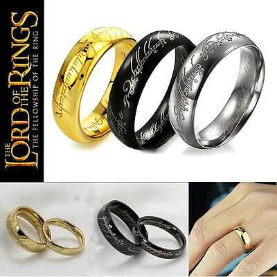 Lord of the Rings The One Ring LOTR Titanium Steel Aragon Ring Wedding Stylish