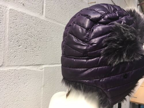 JOHN LEWIS QUILTED TRAPPER HAT PURPLE BLACK OR STONE NEW RRP £25 WINTER WARM