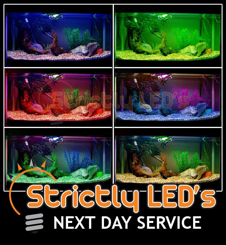 Nastri di alluminio a LED cambia colore Acquario Acquario Luci RESISTENTE ALL' ACQUA 100 cm