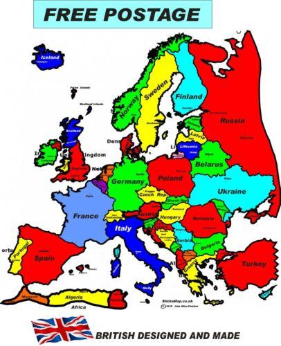 camper  decal motorhome caravan map of europe A3 0