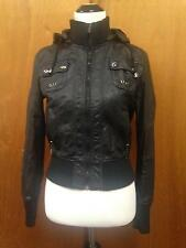 Palomares Sport Juniors Vegan Leather Pleather Moto Jacket SZ M