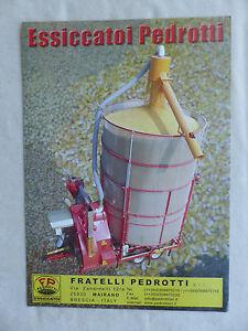 CompéTent Fratelli Pedrotti Italie-essiccatoi Pedrotti-prospectus Brochure (0758-afficher Le Titre D'origine Ni Trop Dur Ni Trop Mou