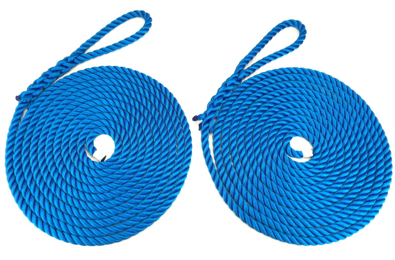 2 x 16 Metres of 10mm Royal bluee Mooring Ropes. Warps, Boat Lines, Yachts, Canal