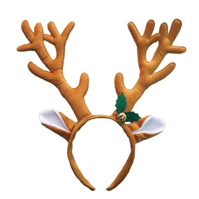 GI- Reindeer Antlers Headband Headwear Hair Hoop Christmas Cosplay Party Access