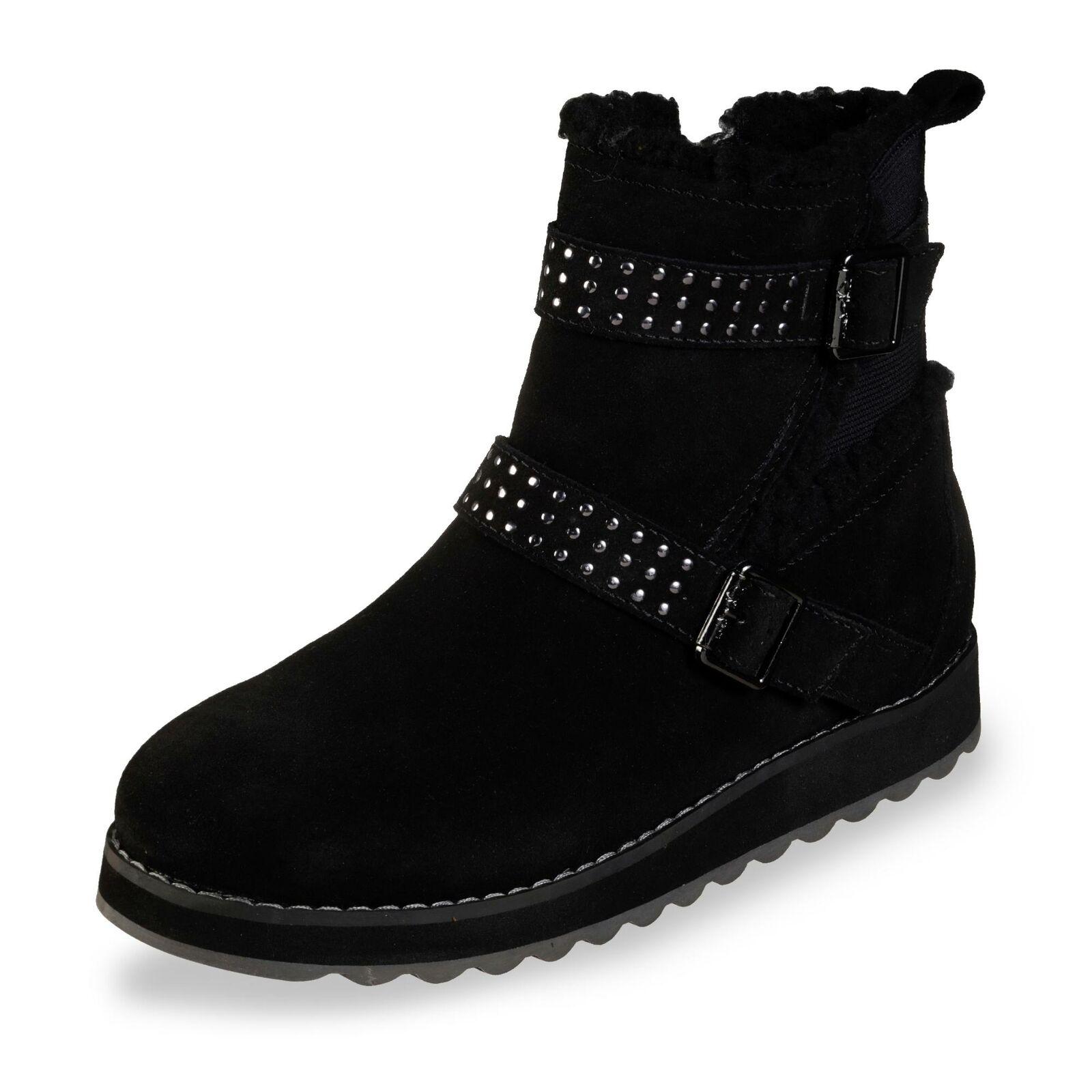 Gabor Damen Boots Stiefel Winterschuhe Schlupfschuh Winterstiefel Schuh schwarz