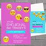 Personalised Emoji Boys Girls Kids Birthday Party Invitations x 12 +envs H0028