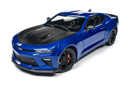 Muscle USA Round 2 NEW  2017 Chevrolet Camaro SS 1LE  bluee 1 18 Die-Cast Car