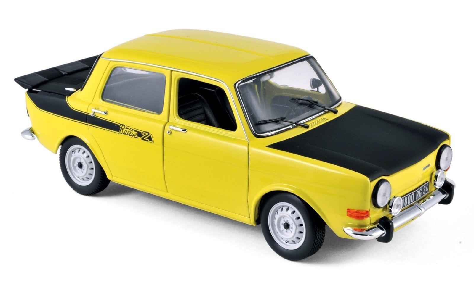 Simca 1000 rallye 2 1976 jaune 1 18 NOREV 185708 NOUVEAU & OVP