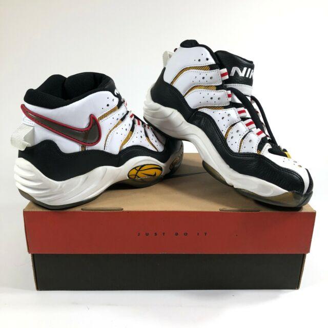 b1d0b2b3 Nike Air Zoom 1.0 Flight Mens 11 Basketball Shoes White New Old Stock 90s  VTG