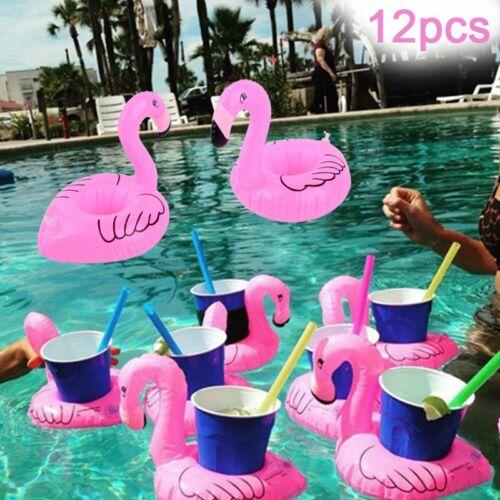 12x Getränkehalter Aufblasbar Badespielzeug Pool Schwimm Trinkhalter Flamingo