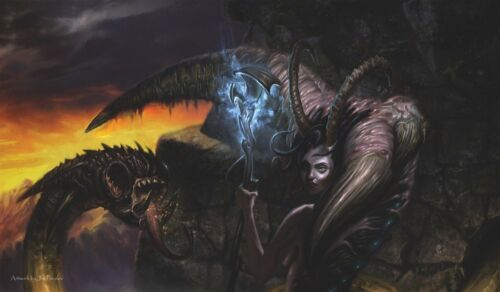 Servant of the Demoness Artists of Magic Playmat Cus GAMING SUPPLY BRAND NEW
