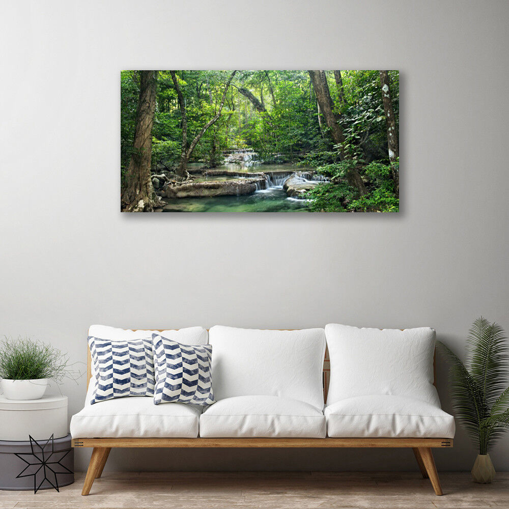 Canvas print Wall art on 100x50 Image Picture Picture Picture Forest Nature fa3d2d