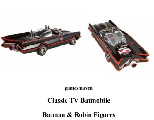 NJ Croce 1966 Classic TV Series Batmobile w//Bendable Batman /& Robin Figures NEW