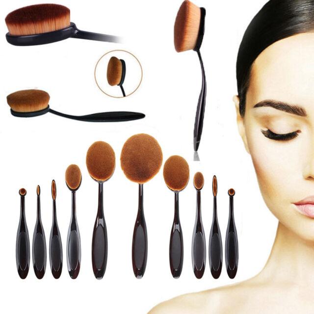 Pro Toothbrush Makeup Brush Eyebrow Oval Powder Cream Brush Foundation Brush Hot