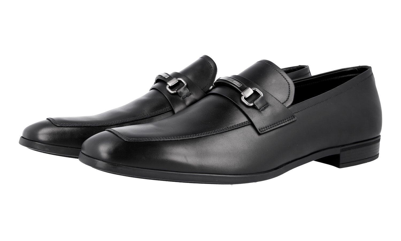 AUTH PRADA BUSINESS scarpe LOGO BIT LOAFER 2DC140 nero NEW US 10.5 EU 43,5 44