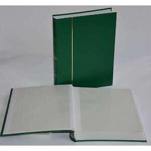 Briefmarkenalbum, Einsteckbuch, Einsteckalbum, 60 weiße Seiten, grüner Einband