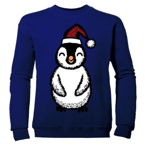 Grazioso Pinguino Natale Ragazzi Festa Natale Bambini Felpa Maglione