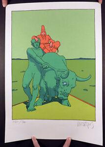 Moebius-Tauro-Verde-Grande-serigraphie-numerotee-et-signee-TBE