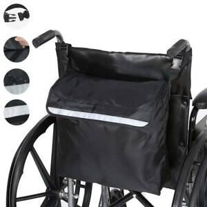 Rollstuhltasche-Gross-Schwarz-Rollstuhl-Rucksack-Aufbewahrungstasche-am-Griff