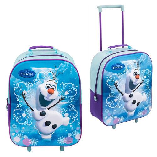 Disney Frozen Anna Elsa Olaf chariot 3D enfants bagages sac d/'école valise cabine
