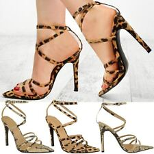 7be177f85044 item 3 Womens Ladies Leopard Animal Print Strappy Party Sandals Barely  There Pointed -Womens Ladies Leopard Animal Print Strappy Party Sandals  Barely There ...
