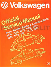 VW Bug Super Beetle Shop Manual 1970 1971 1972 1973 1974 1975 76 1977 1978 1979
